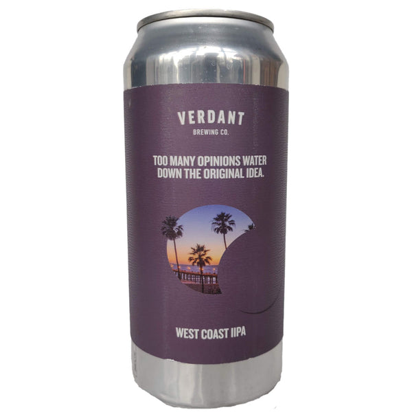 Verdant Too Many Opinions Water Down the Original Idea West Coast DIPA 8% (440ml can)-Hop Burns & Black