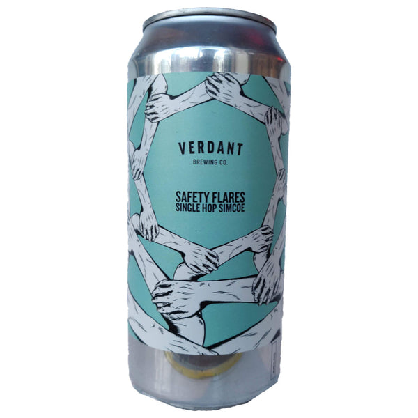 Verdant Safety Flares Single Hop Simcoe Pale Ale 5.2% (440ml can)-Hop Burns & Black