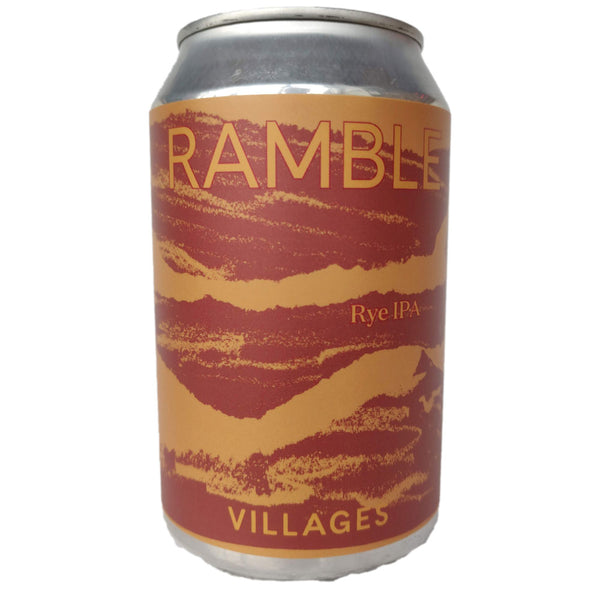 Villages Ramble Rye IPA 6.2% (330ml can)-Hop Burns & Black