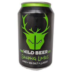 Wild Beer Sleeping Limes Gose 4.6% (330ml can)-Hop Burns & Black