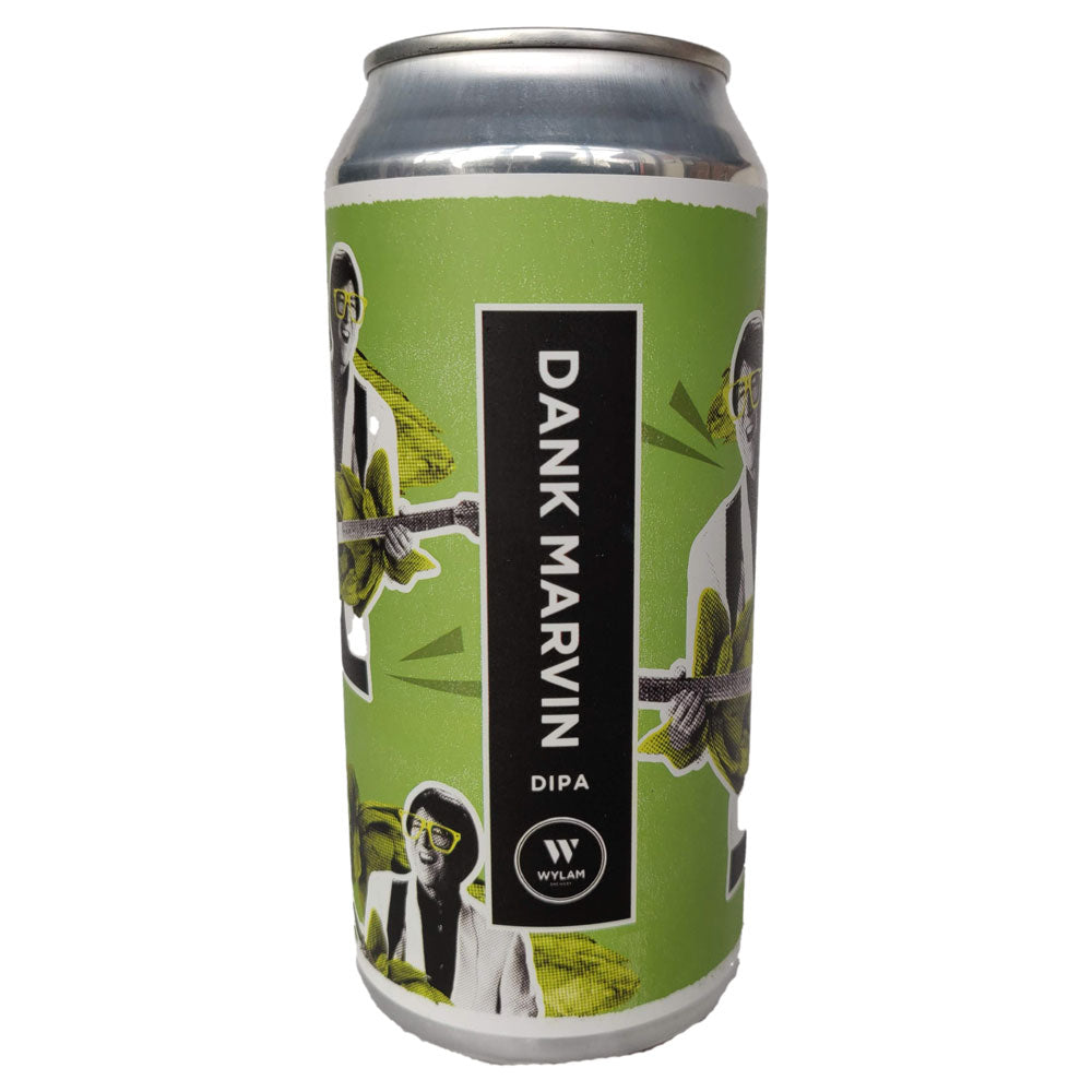 Wylam Dank Marvin Double IPA 6.8% (440ml can)-Hop Burns & Black