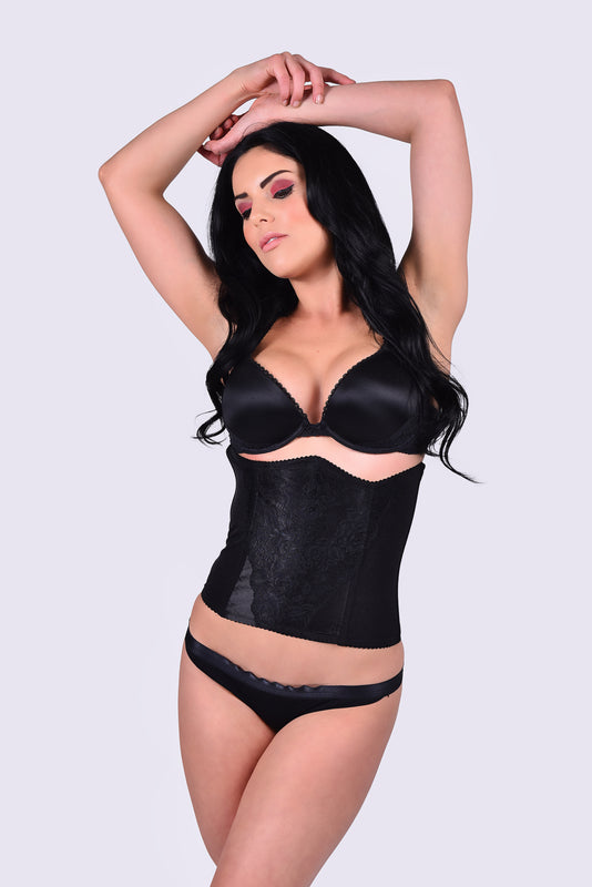 Reversible Waist Cincher Trainer Girdle Black