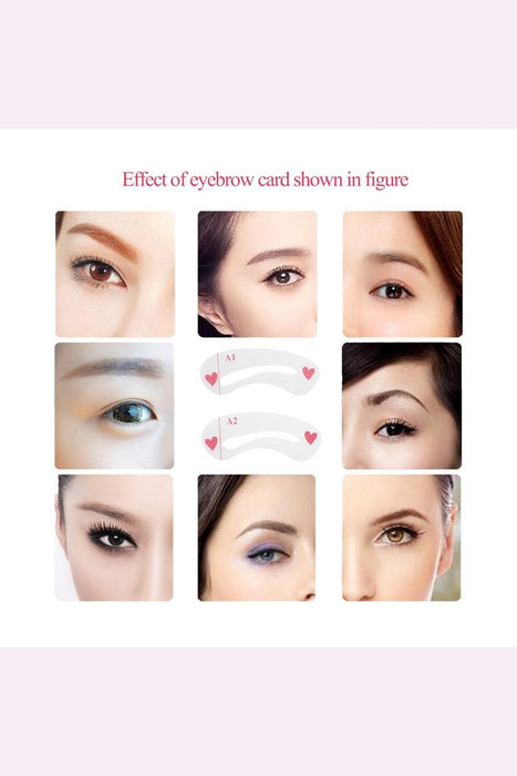 24pcs 8 Sets Eyebrow Stencils Eye Brow Shaping Templates