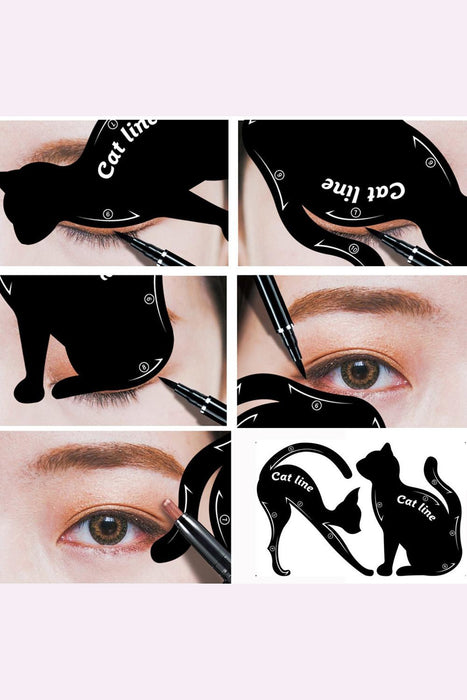 2Pcs Cat Eye Eyeliner Shaper Template