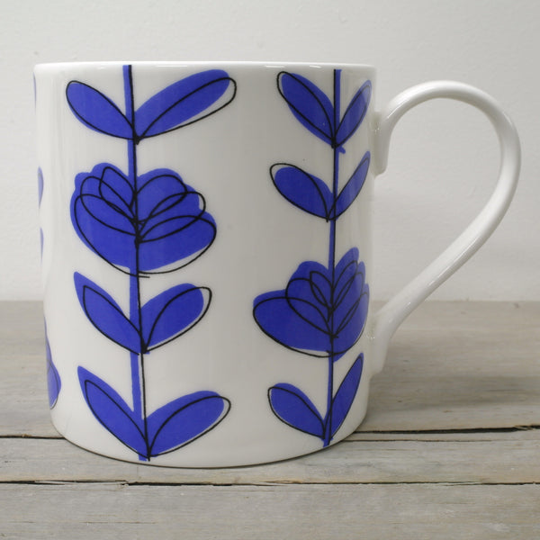 English Fine Bone China Heart Linear Mug