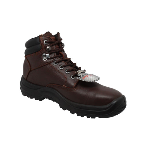 "Men's 6"" Steel Toe TPU Work Boot Brown, Safety, Marcus Allen Accessories - Marcus Allen Accessories"