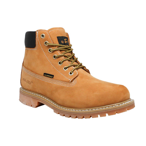 "Men's 6"" Nubuck Leather Waterproof Work Boot Tan, Work, Marcus Allen Accessories - Marcus Allen Accessories"