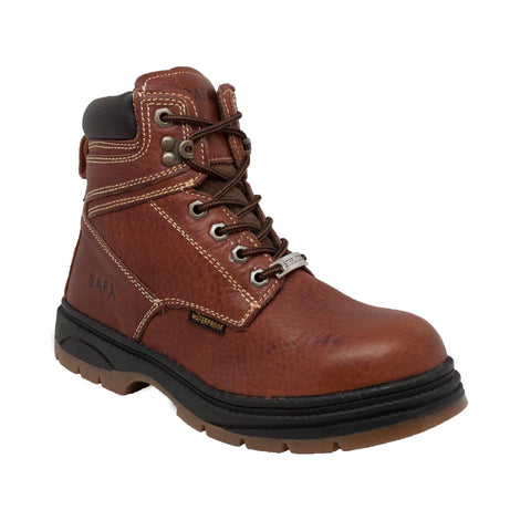 "Men's 6"" Waterproof Steel Toe Work Boot Dark Brown, Safety, Marcus Allen Accessories - Marcus Allen Accessories"