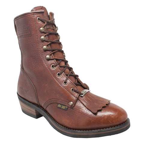 "Men's 9"" Steel Toe Packer Chestnut, Western, Marcus Allen Accessories - Marcus Allen Accessories"