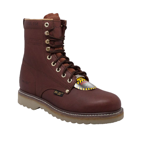 "MEN'S 8"" STEEL TOE FARM BOOT REDWOOD"