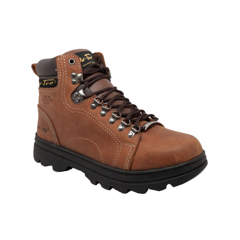 "MEN'S 6"" STEEL TOE HIKER BROWN"