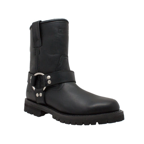 "Women's 8"" Harness Boot Black, Biker, Marcus Allen Accessories - Marcus Allen Accessories"