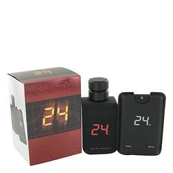 24 Go Dark The Fragrance Eau De Toilette Spray + .8 oz Mini Pocket Spray By ScentStory