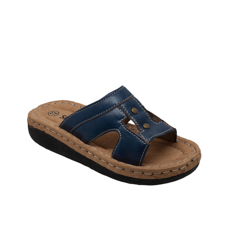 CHILDREN'S BAND SLIDE SANDAL NAVY