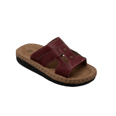 CHILDREN'S BAND SLIDE SANDAL RED