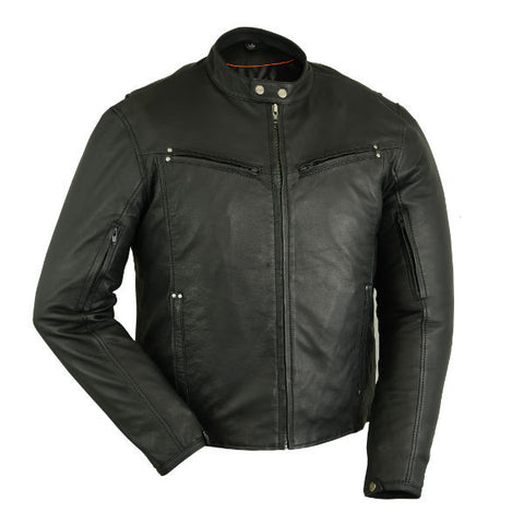 DS742 Men's Lightweight Drum Dyed Naked Lambskin Jacket, Motorcycle, Marcus Allen Accessories - Marcus Allen Accessories