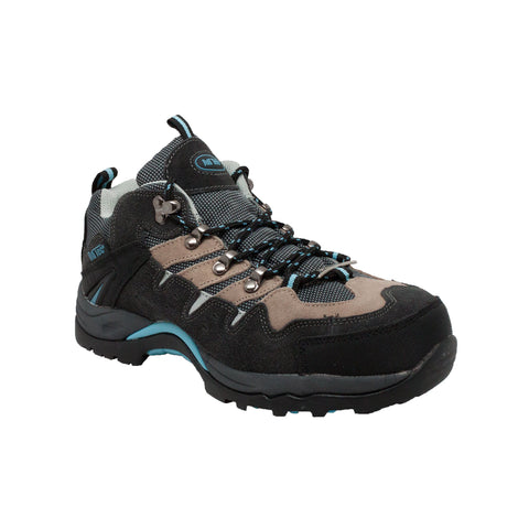 WOMEN'S LEATHER LOW CUT STEEL TOE HIKER BLACK