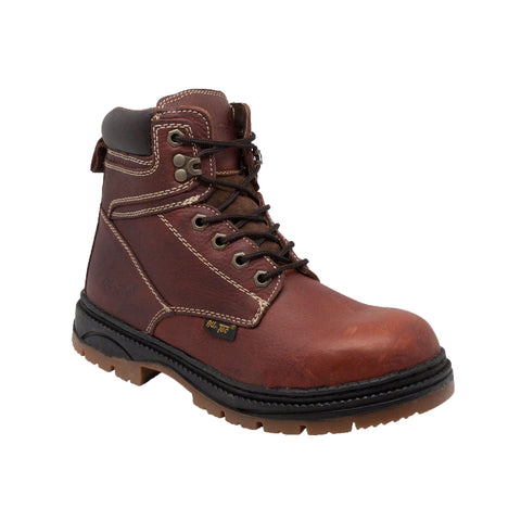 "Men's 6"" Leather Work Boot Brown, Work, Marcus Allen Accessories - Marcus Allen Accessories"
