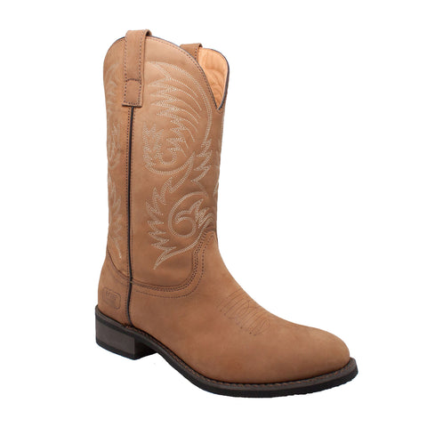 "Men's 11"" Round Toe Western Pull On Tan, Western, Marcus Allen Accessories - Marcus Allen Accessories"