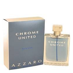 Chrome United Eau De Toilette Spray By Azzaro 3.4 oz Eau De Toilette Spray