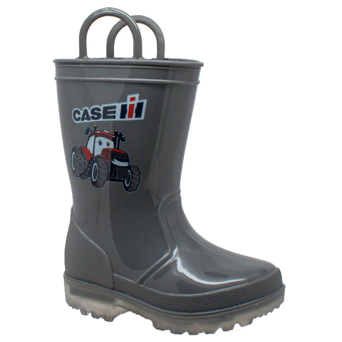 CHILDREN'S PVC BOOT WITH LIGHT-UP OUTSOLE GREY