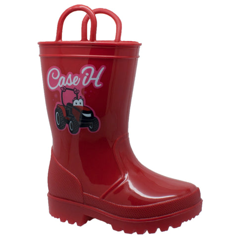 CHILDREN'S PVC BOOT WITH LIGHT-UP OUTSOLE RED