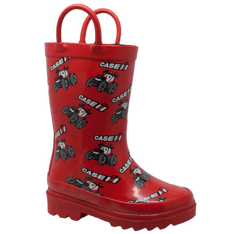 TODDLER'S BIG RED RUBBER BOOTS RED