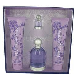 Halloween Gift Set By Jesus Del Pozo 3.4 oz Eau De Toilette Spray + 5 oz Body Lotion + 5 oz Shower Gel + .15 oz Mini EDT