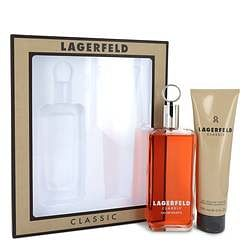 Lagerfeld Gift Set By Karl Lagerfeld 5 oz Eau De Toilette pray + 5 oz Shower Gel