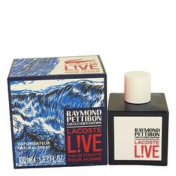 Lacoste Live Eau DE Toilette Spray (Limited Edition Raymond Pettibon Bottle) By Lacoste