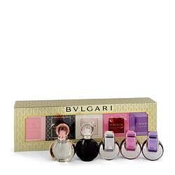 Omnia Gift Set By Bvlgari Women's Gift Collection Includes Goldea The Roman Night, Rose Goldea, Omnia, Omnia Pink Sapphire and Omnia Amethyste