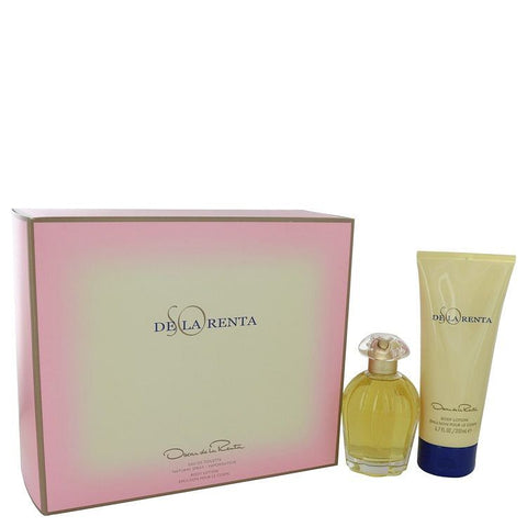So De La Renta Gift Set By Oscar de la Renta 3.4 oz Eau De Toilette spray + 6.7 oz Body Lotion
