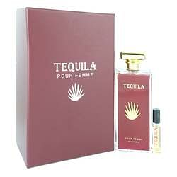 Tequila Pour Femme Red Eau De Parfum Spray + Free .17 oz Mini EDP Spray By Tequila Perfumes 3.3 oz Eau De Parfum Spray + Free .17 oz Mini EDP Spray