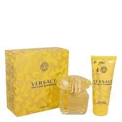 Versace Yellow Diamond Gift Set By Versace 3 oz Eau De Toilette Spray + 3.4 oz Body lotion