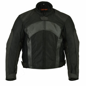 DS750BK Men's Mesh/ Leather Padded Jacket, Motorcycle, Marcus Allen Accessories - Marcus Allen Accessories
