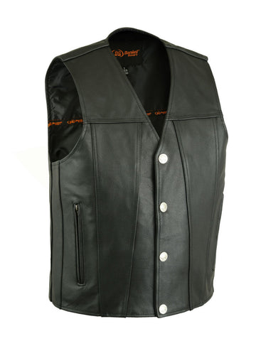 DS125 Men's Single Back Panel Concealed Carry Vest (Buffalo Nickel He, Motorcycle, Marcus Allen Accessories - Marcus Allen Accessories