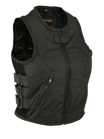 DS212BK Women's Textile Updated SWAT Team Style Vest, Motorcycle, Marcus Allen Accessories - Marcus Allen Accessories