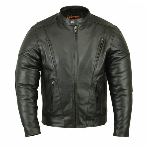 DS779 Men's Vented M/C Jacket w/ Plain Sides, Motorcycle, Marcus Allen Accessories - Marcus Allen Accessories