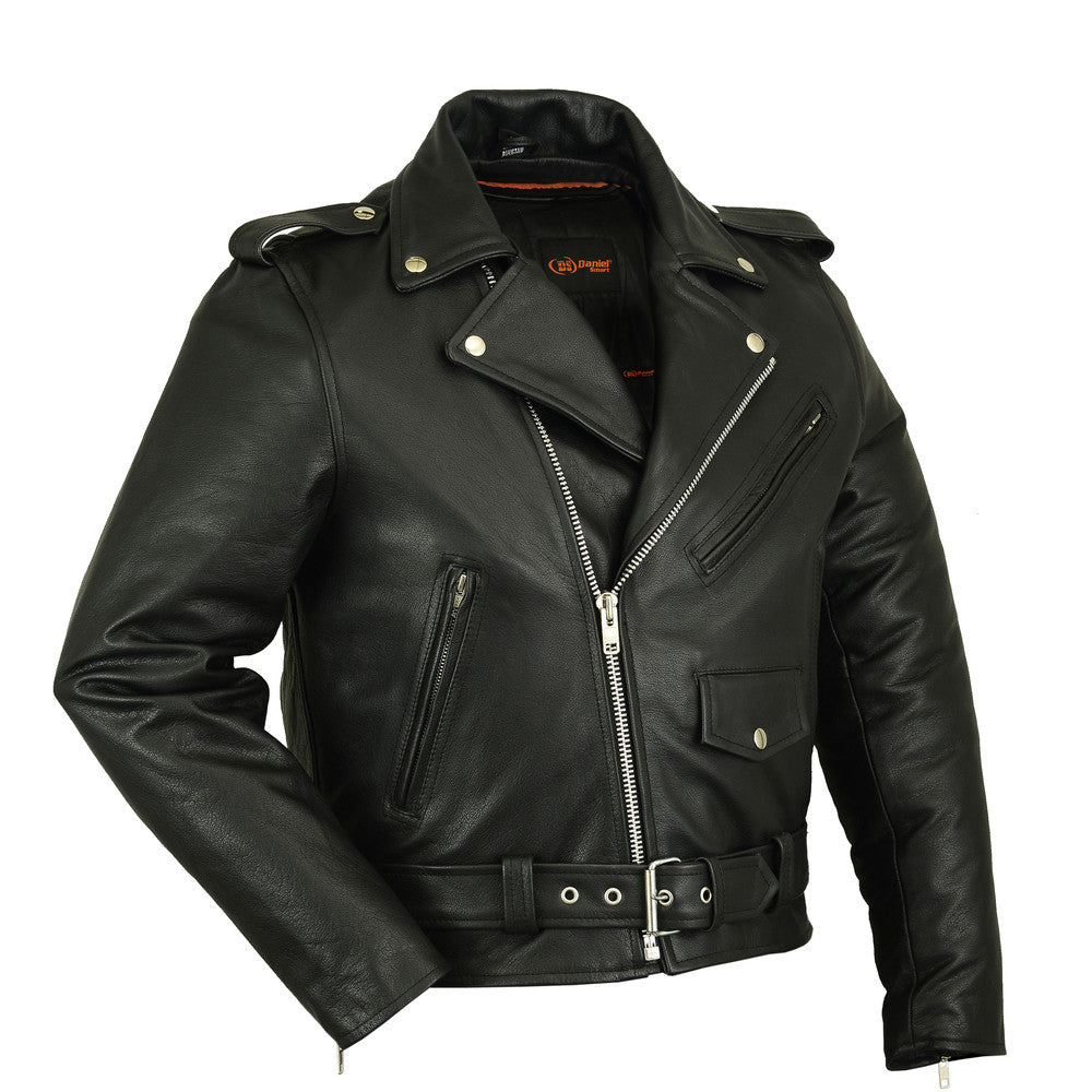 DS730 Men's Classic Plain Side Police Style M/C Jacket, Motorcycle, Marcus Allen Accessories - Marcus Allen Accessories