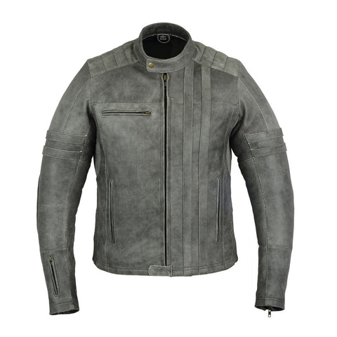 DS708 Men's Vintage Racer (Gray), Motorcycle, Marcus Allen Accessories - Marcus Allen Accessories