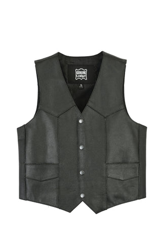 DS1725 Kids Traditional Style Plain Side Vest, Motorcycle, Marcus Allen Accessories - Marcus Allen Accessories