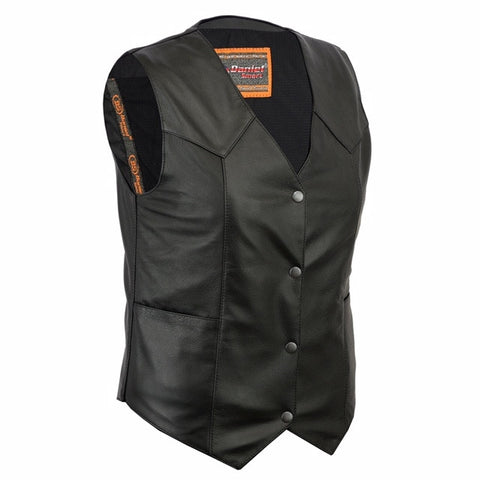 DS251 Women's Classic Plain Side Vest, Motorcycle, Marcus Allen Accessories - Marcus Allen Accessories