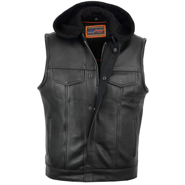 DS182 Concealed Snaps, Premium Naked Cowhide, Removable Hood & Hidden, Motorcycle, Marcus Allen Accessories - Marcus Allen Accessories