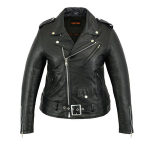 Women's Classic Lightweight Police Style M/C Jacket