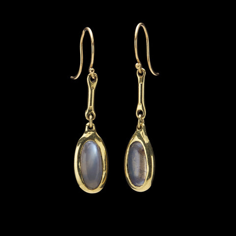 Cast Line Moonstone Earring