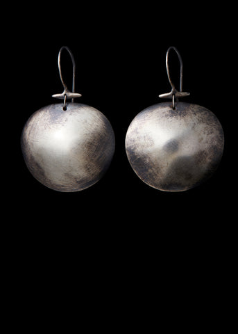 Silver Turtle Shell Earring