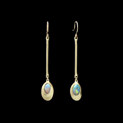 Opal Pendant Earrings