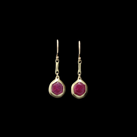 Ruby  Pendant Earrings