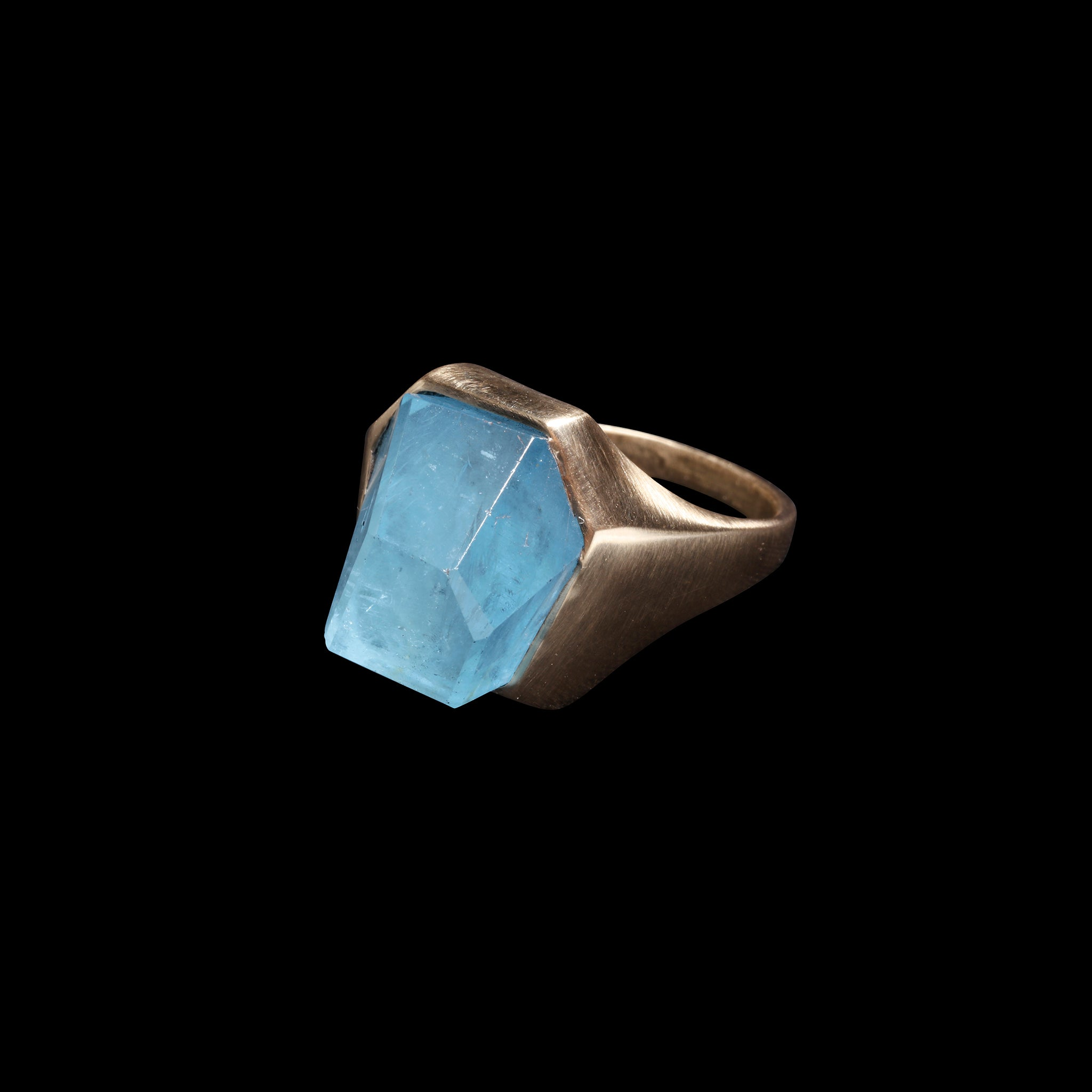 Aquamarine Iceberg Ring
