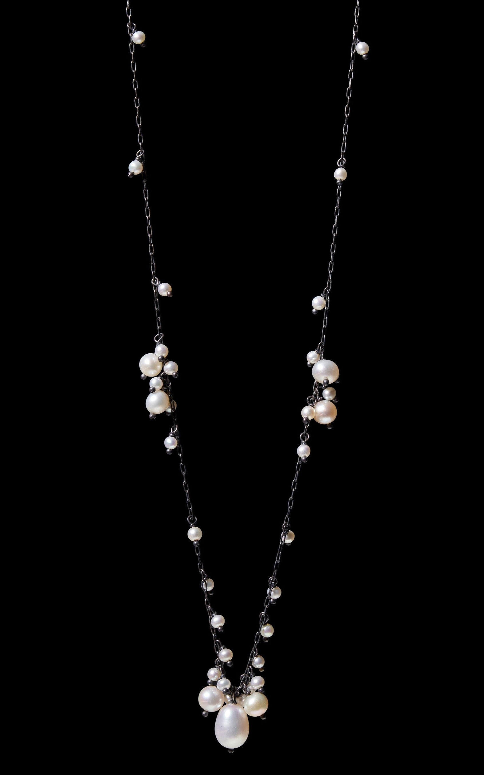 Multi Cluster Fresh Water Pearl Necklace